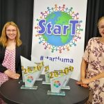 StarT gala 2020 hosts Vilma Laiho and Veera Sinikallio